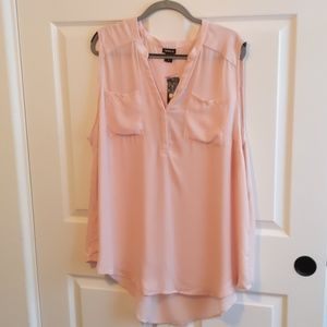 Peach/Rose Sleeveless Blouse